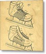 Hockey Skates Patent Art Blueprint Drawing Metal Print