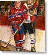 Hockey Stars At The Forum Metal Print