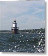 Hog Island Shoal Lighthouse Metal Print