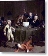 Hogarth: Midnight, 1731 Metal Print