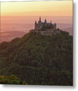 Hohenzollern Castle At Sunset Metal Print by Yair Karelic
