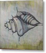 Hoirn In Water Metal Print