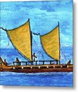 Hokulea Hawaiian Ocean Going Outrigger Canoe #49 Metal Print