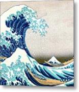 Hokusai Great Wave Off Kanagawa Metal Print by Katsushika Hokusai