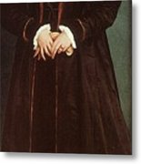 Holbein Christina Of Denmark- Duchess Of Milan 1538 Nation Hans The Younger Holbein Metal Print