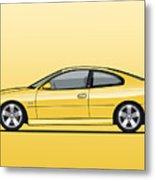Holden Monaro Vz Cv8 Yellow Metal Print