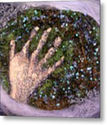Holding Earth From The Series Our Book Of Common Faith Metal Print