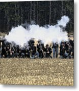 Holding The Line Metal Print