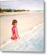 Holding The Ocean Metal Print