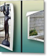 Holding Up My End - Gently Cross Your Eyes And Focus On The Middle Image Metal Print