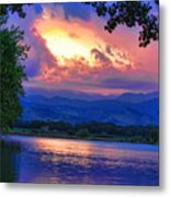Hole In The Sky Sunset Metal Print