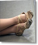 Holes In Dance Shoes Metal Print