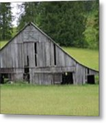 Holey Old Barn  Washington State Metal Print