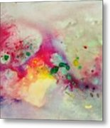 Holi-colorbubbles Abstract Metal Print