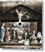 Holiday Christmas Manger Pa 01 Metal Print
