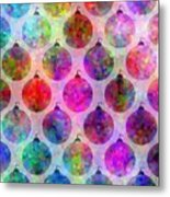 Holiday Colors - Christmas Pattern Metal Print