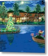 Holiday Delivery At Whisper Lake  Metal Print