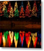 Holiday Evergreen Reflections Metal Print