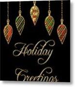 Holiday Greetings Merry Christmas Metal Print