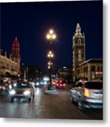 Holiday In Motion On The Plaza Metal Print