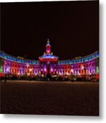 Holiday Lights Of The Denver City And County Building Metal Print