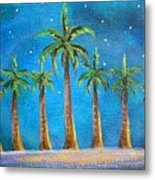 Holiday Palms Metal Print