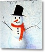 Holiday Snowman Metal Print