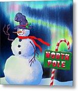 Holiday Top Hat Metal Print