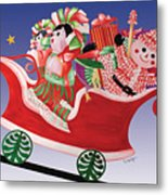 Holiday Twin Delivery Metal Print