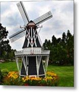 Holland Grey Windmill  Metal Print