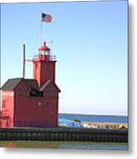 Holland Mi-big Red Metal Print