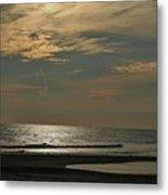 Holly Beach Sunset Metal Print