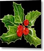 Holly Metal Print