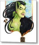 Holly Elf Metal Print