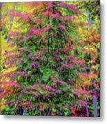 Holly Jolly Tree Metal Print