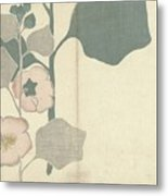 Hollyhock, Nakamura Hochu, 1826 Metal Print