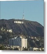 Hollyweed Sign Metal Print