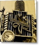 Hollywood And Vine Street Sign Collection Metal Print