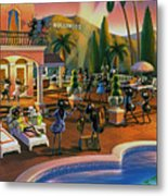 Hollywood Ants Cocktail Party Metal Print by Robin Moline