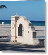 Hollywood Beach Wall In Color Metal Print