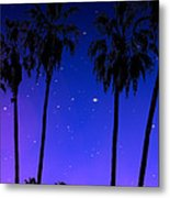 Hollywood Palm Tree Abstract Metal Print