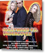 Hollywood P.d. Undercover Metal Print by The Scott Shaw Poster Gallery