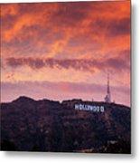Hollywood Sign At Sunset Metal Print