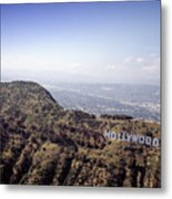 Hollywood Sign, Built Ca. 1923 By Mack Metal Print