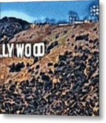 Hollywood Sign Metal Print