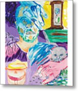 Holy Communion Self Portrait The Second Metal Print