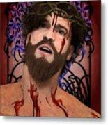 Holy Face Of Ecce Homo Metal Print