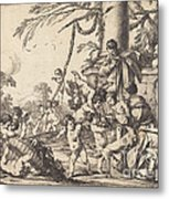 Holy Family With Putti Metal Print