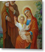 Holy Family With The Vine Tree Metal Print