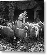 Holy Land: Shepherd, C1910 Metal Print
